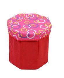 Storage Box Circle Print - Red Pink