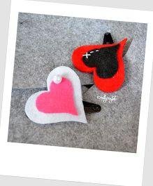 Pretty Ponytails Little Hearts Hair Clip - Multicolour