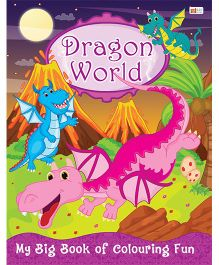 Dragon World Coloring Book - English