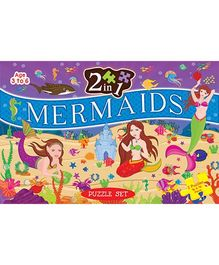 2 In 1 Mermaid Puzzle Set - 96 Pieces And 96 Pieces