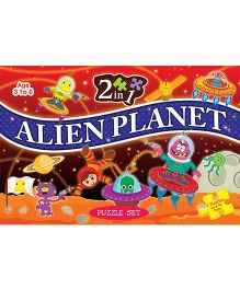 2 In 1 Alien Planet Puzzle Set - 40 Pieces And 96 Pieces
