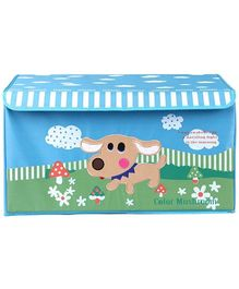 UberLyfe House Shaped Storage Bin with Friendly Dog for Kids Large Blue - KSB 988