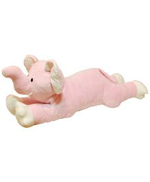 Surbhi Zoo Passport Animals for Kids Elephant Soft Toy Pink - 35 Inches