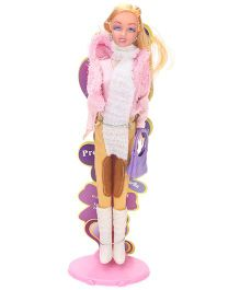 Suzi Western Attire Doll Pink Cream - Height 29 cm