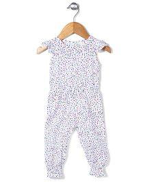 Little Denim Store Leaf Print Jumpsuit - White