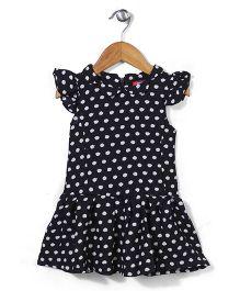 Miss Pretty Dot Print Dress - Black