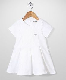 Miss Pretty  Half Sleeves Dress - White