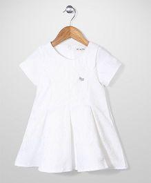 Miss Pretty  Half Sleeves Dress - White