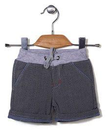 Poly Kids Striped Shorts - Grey