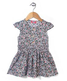 Miss Pretty Floral Print Dress - Multicolour
