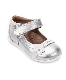 Teddy Toes Mary Jane Shoes - Silver