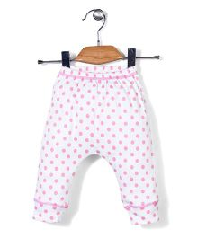Candy Hearts Polka Dot Pants - White