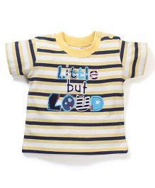 Poly Kids Stripes Print Tee - Yellow