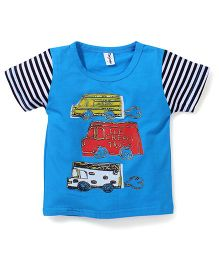 Poly Kids Ice Cream Print T-Shirt - Blue