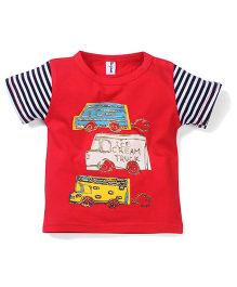 Poly Kids Ice Cream Print T-Shirt - Red