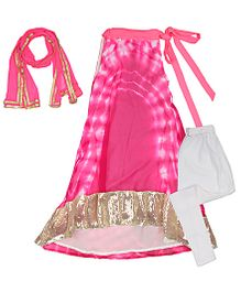 Kids Chakra Tie Dye Salwar Kurta Set - Pink