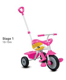 Smartrike Tricycle With Push Handle - Pink And White