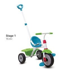 Smartrike Tricycle With Push Handle - Blue Green