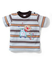 Poly Kids Get Set Go Print T-Shirt - Blue