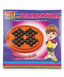 Toyenjoy Brainvita Game - Orange Black