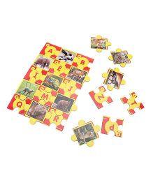Toyenjoy Educational Alphabet Animal Jigsaw Puzzle - Multicolor