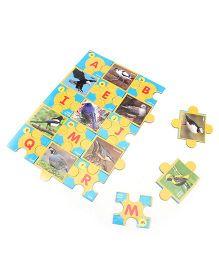 Toyenjoy Educational Alphabet Birds Jigsaw  Puzzle - Multicolor