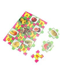 Toyenjoy Educational Alphabet Fruits Jigsaw Puzzle - Multicolor