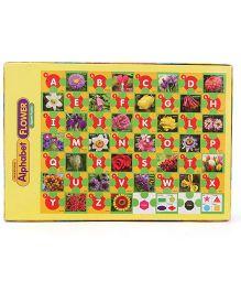 Toyenjoy Educational Alphabet Flower Jigsaw Puzzle - Multicolor