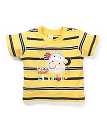 Poly Kids Here Come Trouble Print T-Shirt - Yellow
