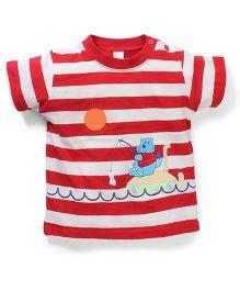 Poly Kids Sun Print T-Shirt - Red