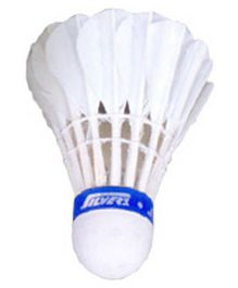 Silver's Ascot Feather Shuttlecock White - Pack of 1