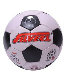 Silver's Football White And Black - Size 6