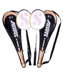 Silver's Fire Badminton Rackets With Cover - Pack Of 2
