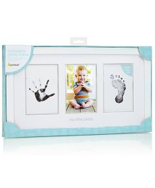 Pearhead Baby Prints Photo Frame with Clean Touch Ink Pad - White