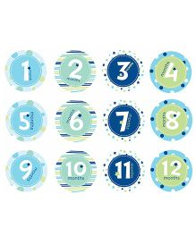 Pearhead Baby Milestone Stickers Blue - 12 Stickers