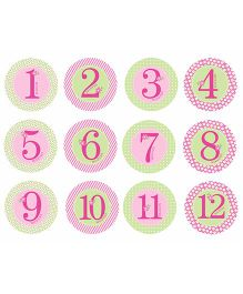 Pearhead Baby Milestone Stickers Pink - 12 Stickers