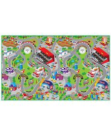 FashBlush Non Woven Free Play Mat Race Track - Multicolor