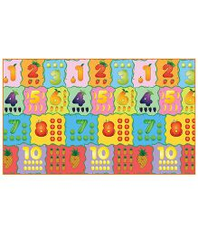 Fashblush Non-woven Free Play Mat Counting Fruits 1 Mat - Multicolor