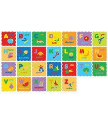 FashBlush Non-woven Free Play Puzzle Mat Fun With Alphabets 1 Mat Multicolor - 26 Pieces