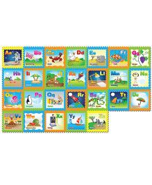 FashBlush Non-Woven Free Play Puzzle Mat Fun With Alphabets Multicolor - 26 Pieces