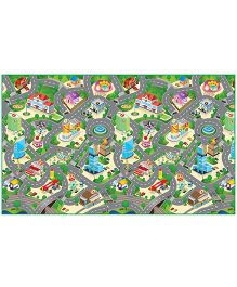 FashBlush Non-woven Free Play Mat City Map - Multicolor