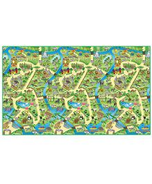 FashBlush Non-woven Free Play Mat Zoo Map - Multicolor