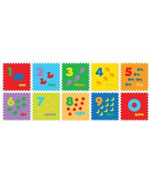 FashBlush Non-woven Free Play Puzzle Mat Fun With Numbers Multicolor - 10 Pieces Puzzle