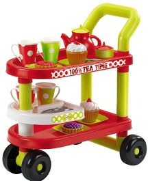 Ecoiffier Tea Time Trolley - Multicolor