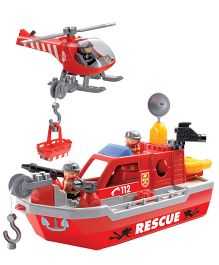 Ecoiffier Abrick Rescue Boat  Toy - Red