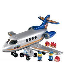 Ecoiffier Abrick Air Plane Toy Multicolor - 30 Pieces