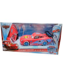 Majorette Disney Pixar Radio Control Lightning McQueen Ice Racers Toy Car - Red And Blue