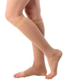 Aaram Compression Class 2 Stocking Below Knee Large - Skin Color