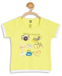 Baby League Short Sleeves Multi Print Top - Yellow