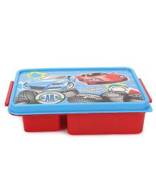 Jewel Printed Square Lunch Box - Red